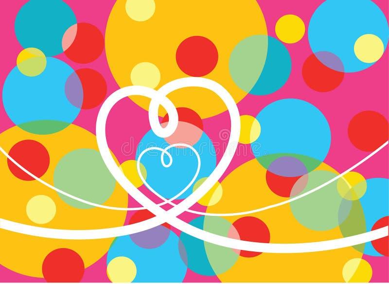 Psychedelic pop dots loop love stock illustration