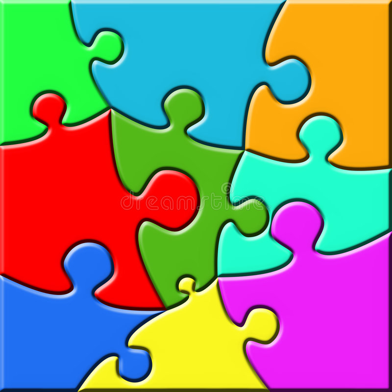 Download Psychedelic Puzzle stock illustration. Image of playing - 6935552