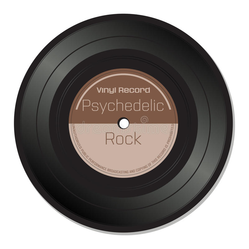 Psychedelic rock vinyl record stock photos
