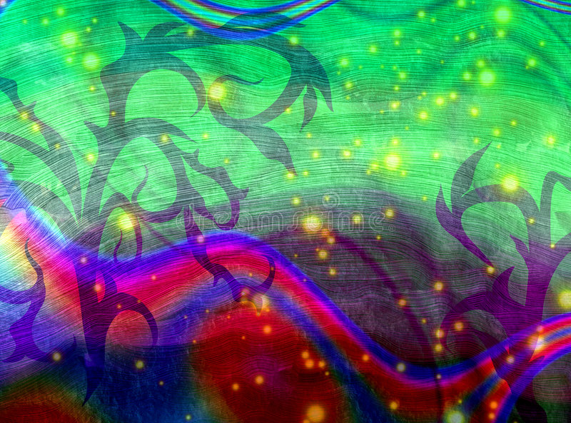 Psychedelic rough background stock illustration
