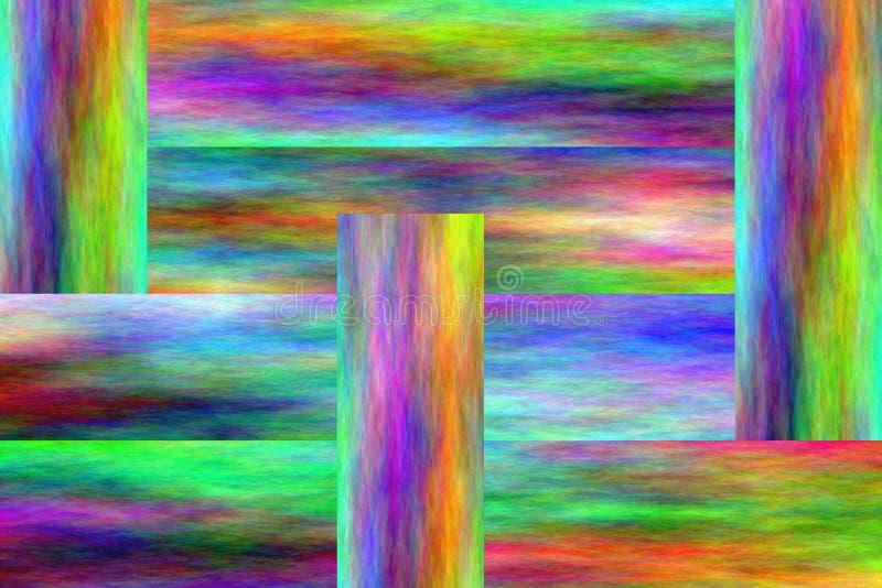 psychedelic sammansättning vektor illustrationer