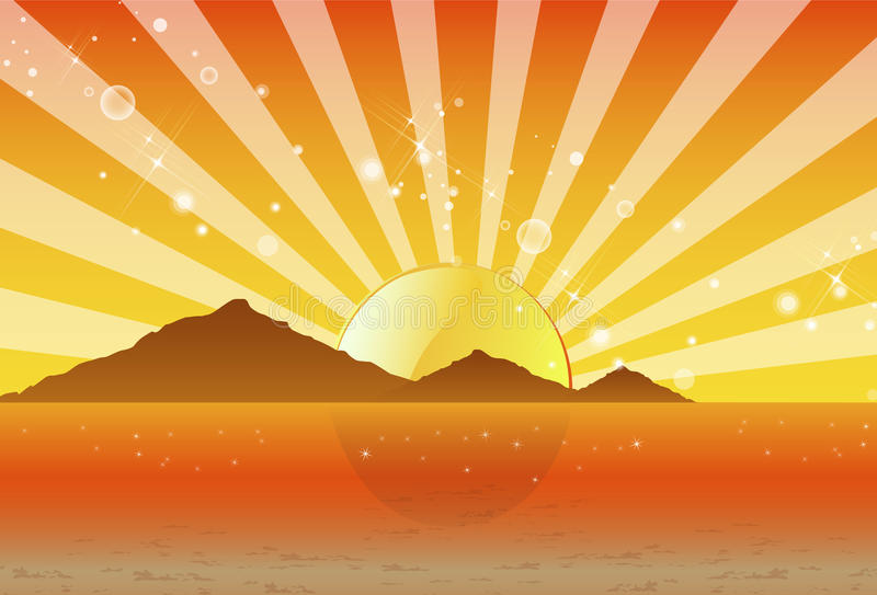 psychedelic solnedgång för strandberg royaltyfri foto