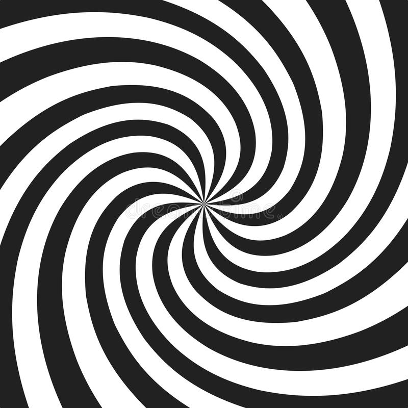 Psychedelic spiral with radial gray rays. Swirl twisted retro background. Comic effect illustration.  vector illustration