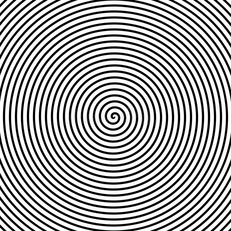 Psychedelic spiral with radial rays,. Twirl, twisted comic effect, vortex backgrounds. Hypnotic spiral stock illustration