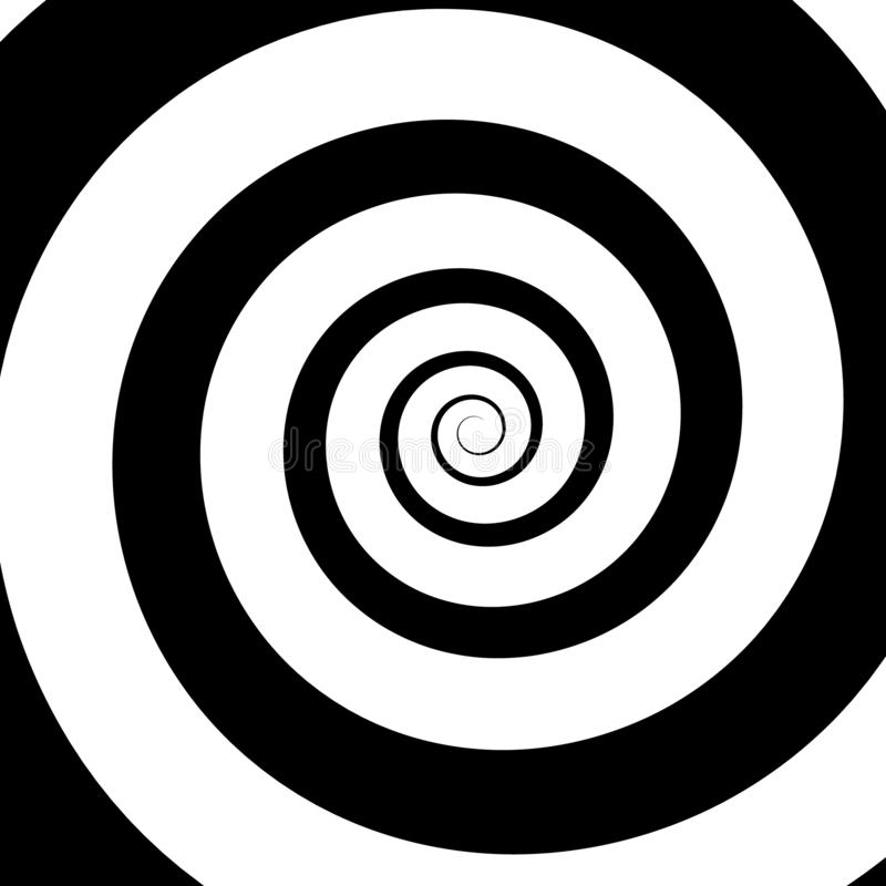 Psychedelic spiral with radial rays. Twirl, twisted comic effect, vortex backgrounds. Hypnotic spiral vector illustration