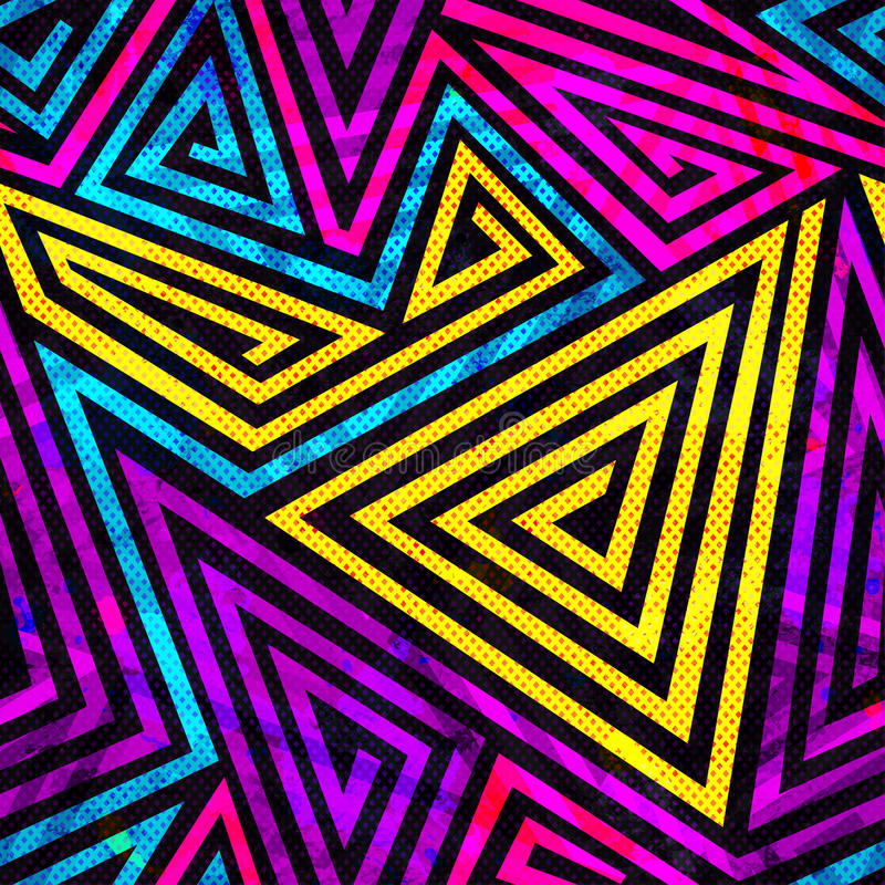 Psychedelic spiral seamless pattern. (eps 10 vector file stock illustration