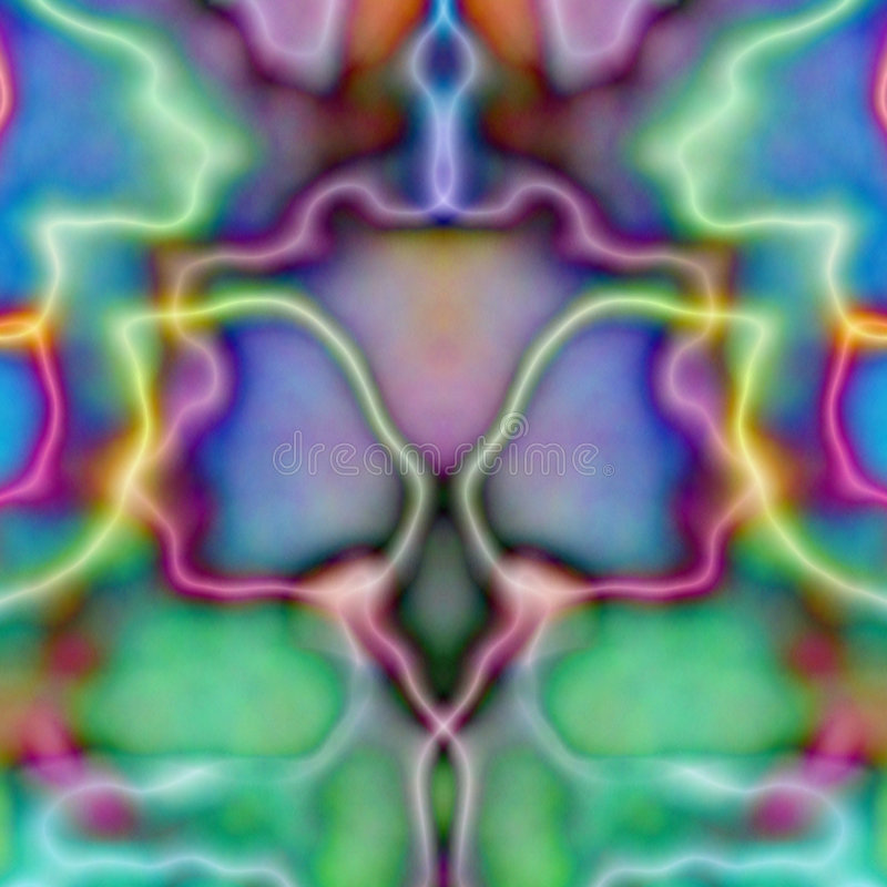 Psychedelic Symmetric Tile Wal