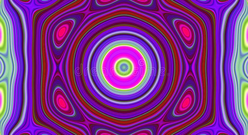 Psychedelic symmetry abstract pattern and hypnotic background, design wallpaper stock illustration