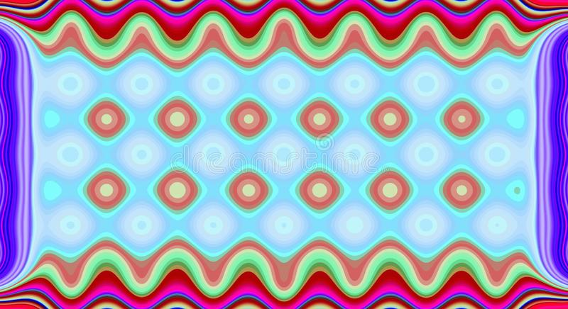 Psychedelic symmetry abstract pattern and hypnotic background, ornament geometric vector illustration