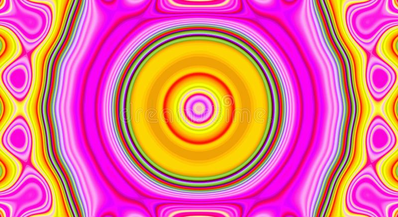 Psychedelic symmetry abstract pattern and hypnotic background, poster stock illustration