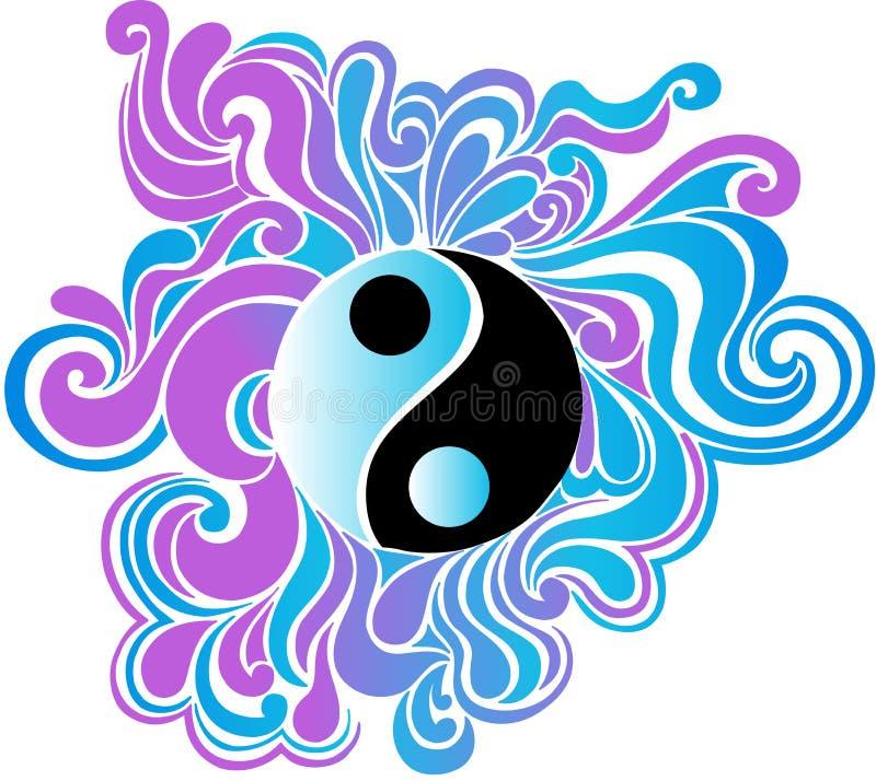 Psychedelic Yin Yang Vector Illustration. Psychedelic Yin Yang Peace Sign Vector Illustration eps royalty free illustration