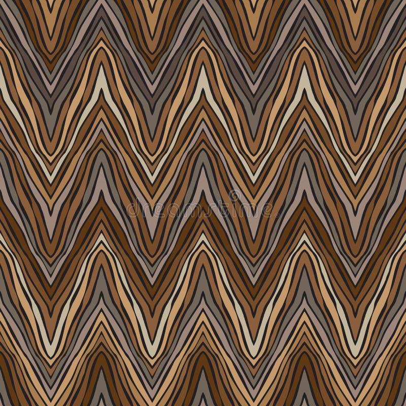 Psychedelisch lineair zigzagpatroon royalty-vrije illustratie