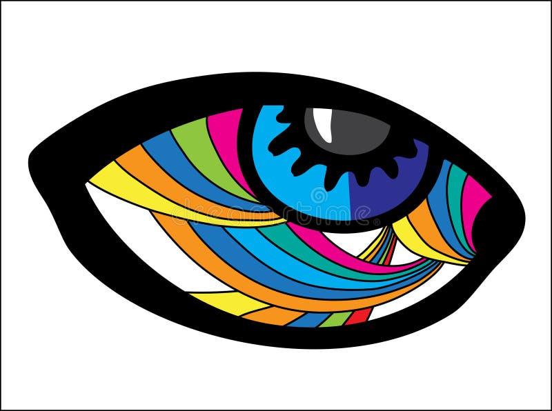 Psychedelisch Oog stock illustratie