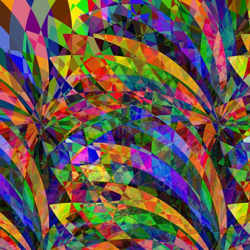 Psychedelische abstracte uitstekende achtergrond royalty-vrije illustratie
