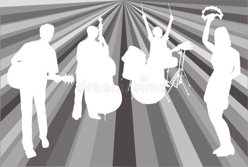 Psychedelische band stock illustratie
