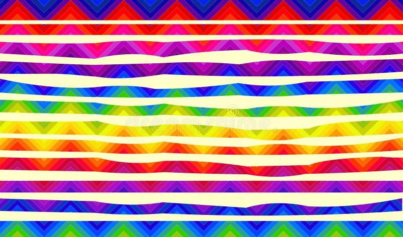 Psychedelische bunte Streifen für Fahnen vektor abbildung