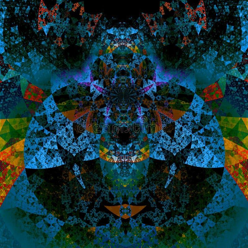 Psychedelische darth vader Kunst Schöne Abbildung Futuristischer Hintergrund Muster der abstrakten Kunst Künstlerische Computerhi stock abbildung