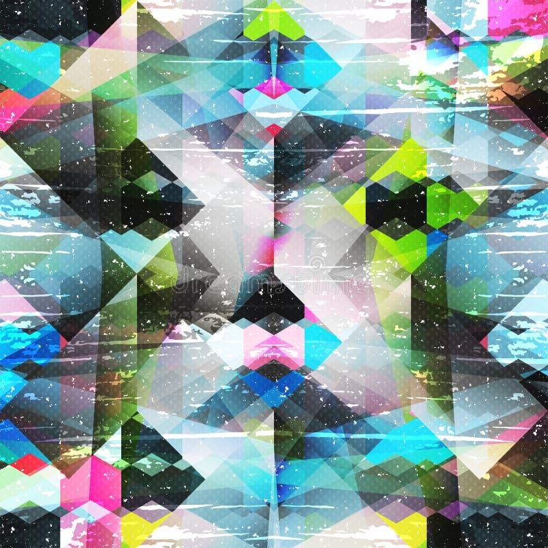 Psychedelische kleuren abstract geometrisch patroon royalty-vrije illustratie