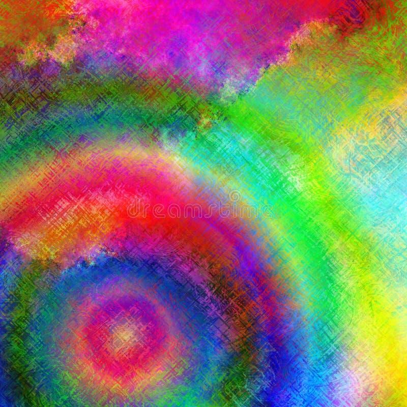 Psychedelische Supernova stock illustratie
