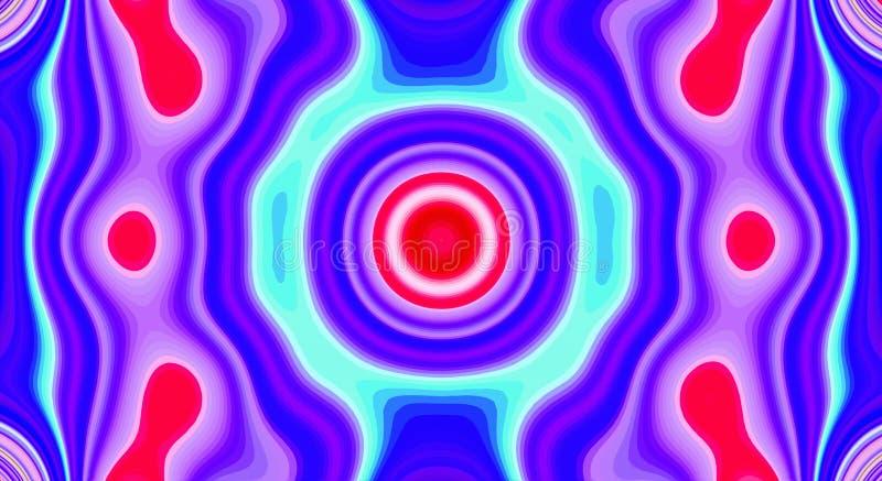 Psychedelische symmetrie abstract patroon en hypnotic achtergrond, multicolored artistiek royalty-vrije illustratie