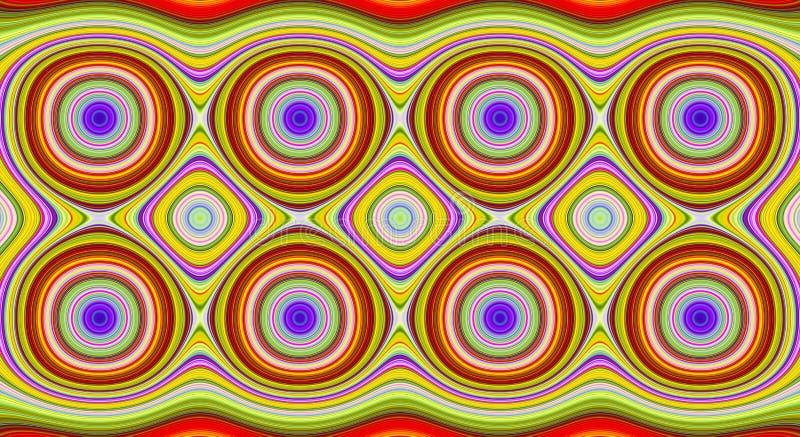 Psychedelische symmetrie abstract patroon en hypnotic achtergrond, werveling vector illustratie