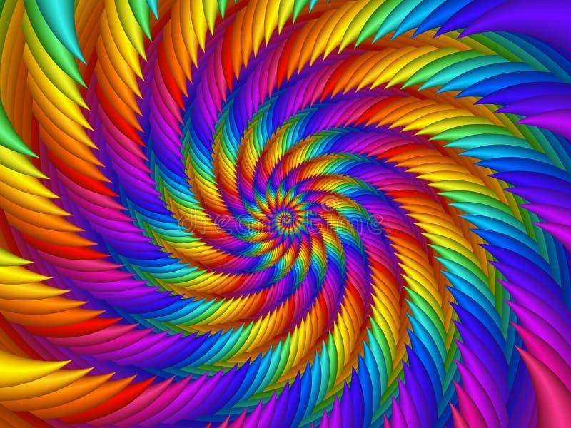 Psychedelischer Regenbogen-Spiralen-Hintergrund stock abbildung