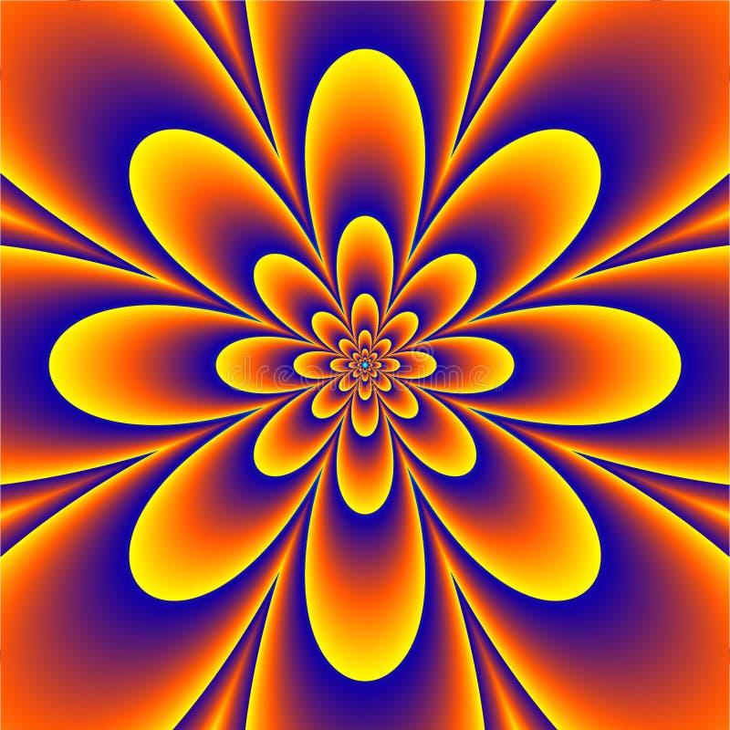 Psychedelisches mit Blumenmuster lizenzfreie abbildung