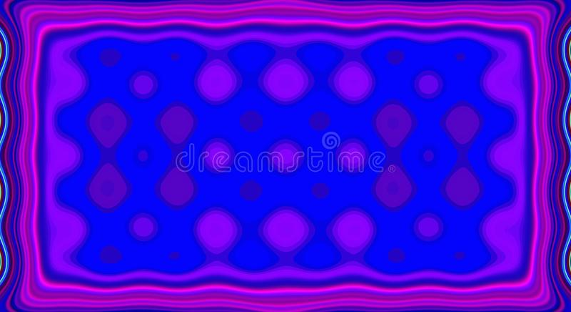 Psychedelisches Symmetriezusammenfassungsmuster und Hypnotikhintergrund, Kunst künstlerisch vektor abbildung