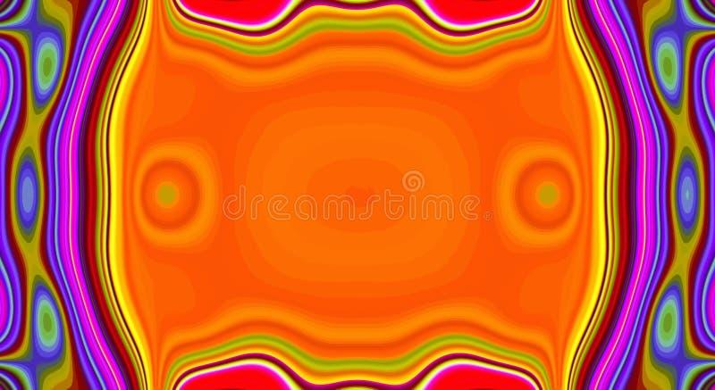 Psychedelisches Symmetriezusammenfassungsmuster und hypnotischer Hintergrund, helle zine Kultur vektor abbildung