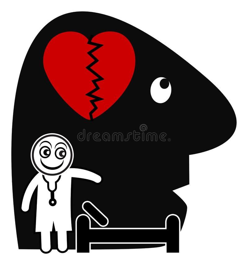 Psychiater en Patiënt stock illustratie