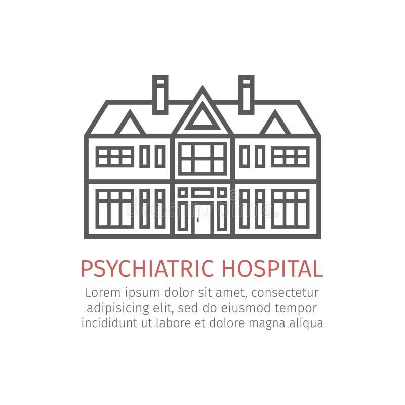 Psychiatric hospital. Vector icon vector illustration