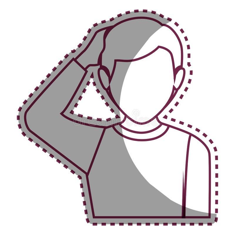 Psychiatric patient avatar character vector illustration