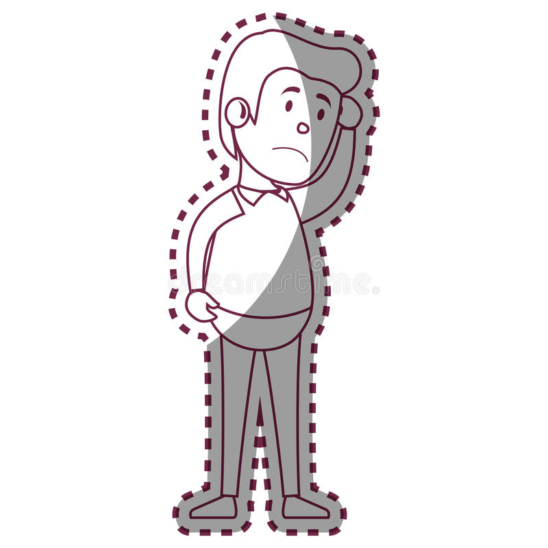 Psychiatric patient avatar character stock illustration