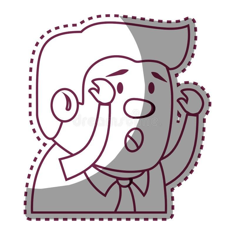 Psychiatric patient avatar character stock illustration