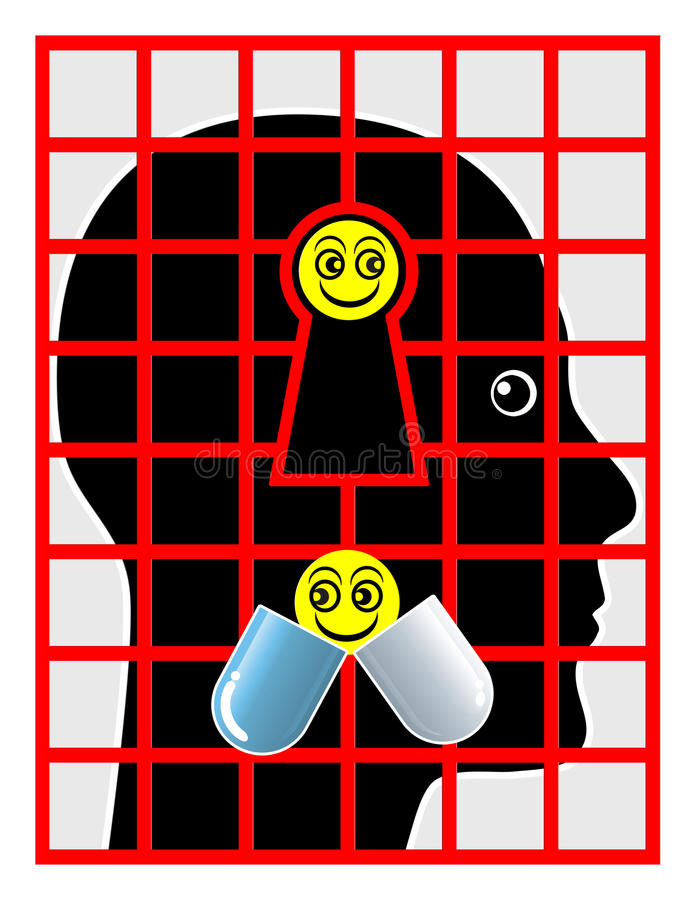 Psychiatric Patient vector illustration
