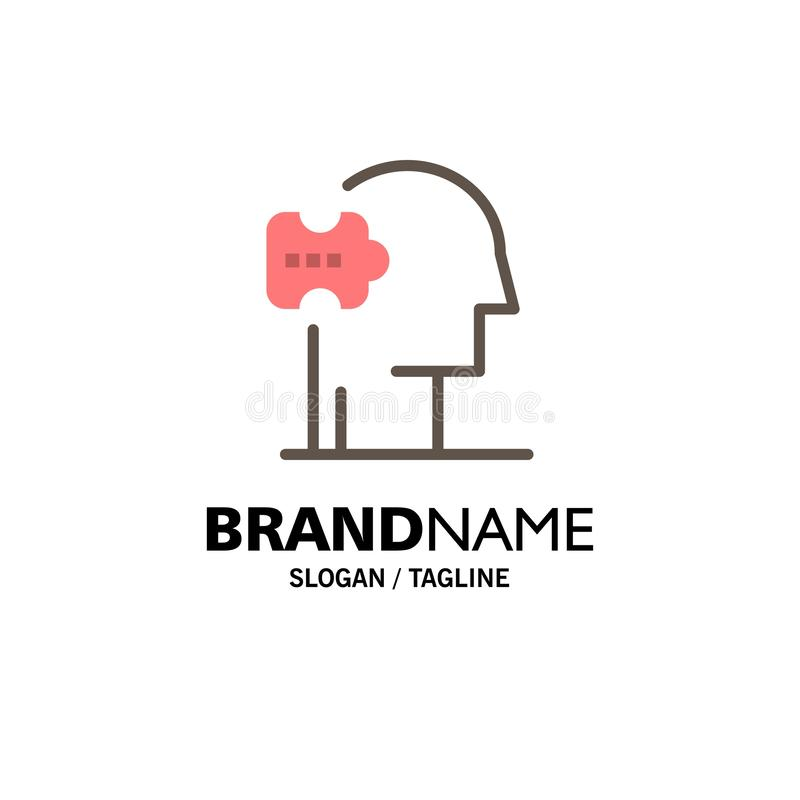 Psychiatrie, Psychologie, Oplossing, Oplossingenzaken Logo Template vlakke kleur vector illustratie