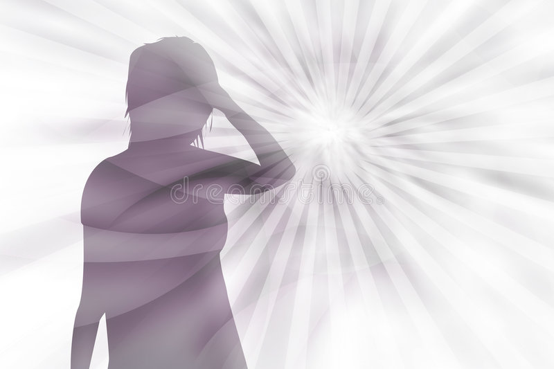 Psychic pressure vector illustration