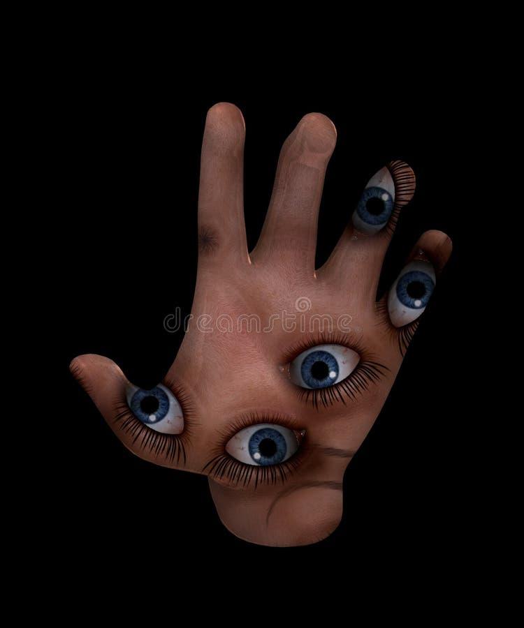 Psychiczna ręka royalty ilustracja