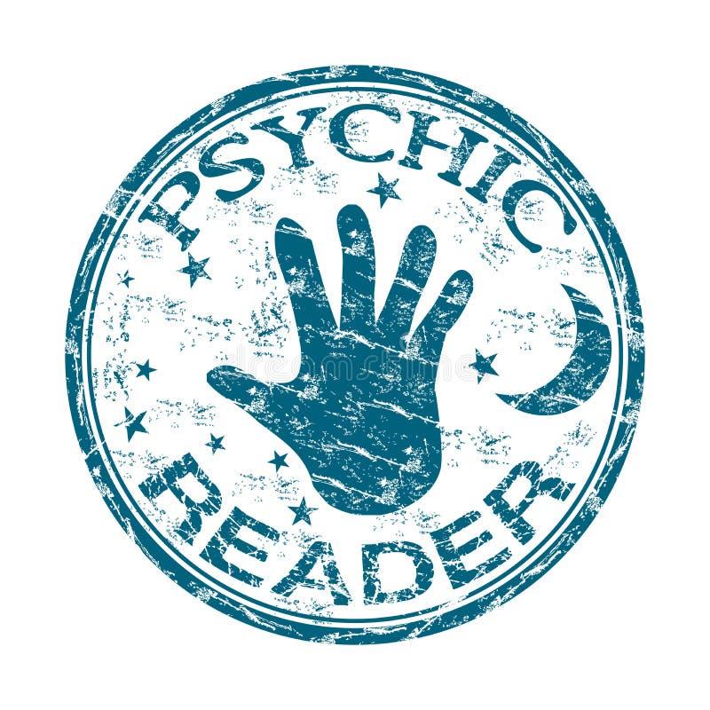 Psychische lezers rubberzegel vector illustratie