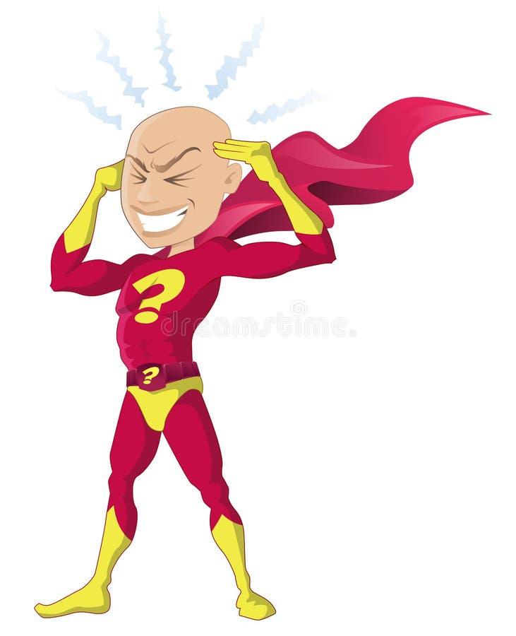 Psychischer Superheld vektor abbildung