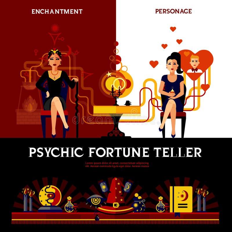 Psychisches Fortune Teller Concept vektor abbildung
