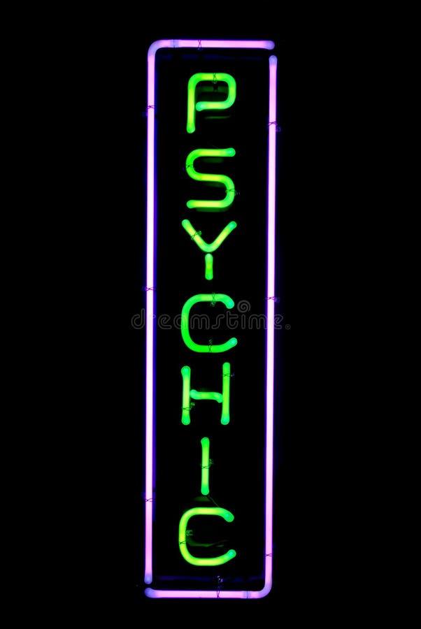 Psychisches Neonzeichen lizenzfreies stockfoto