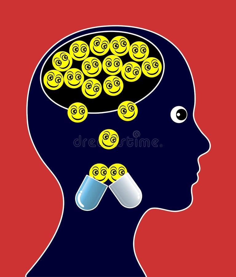 Psycho-aktive Drogen stock abbildung