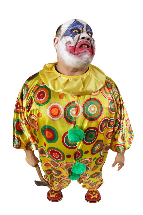 Psycho clown with axe stock photography