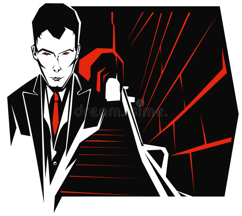 Download Psycho man stock vector. Illustration of psychopath, killer - 16602593