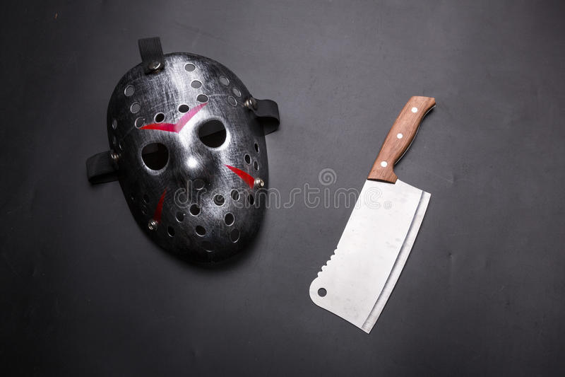 Psycho man instruments isolated on black stock image