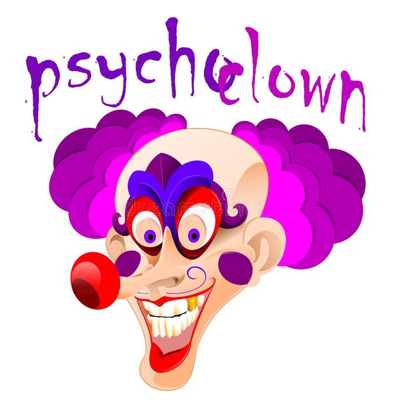 Psychoclown vector illustratie