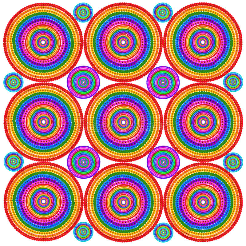 Psychodelic Zielmit blumenhintergrund vektor abbildung