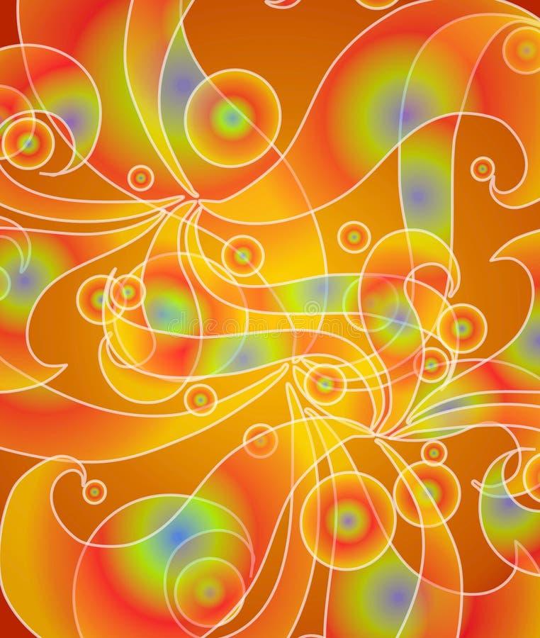 psychodeliczni czerwone światła kwitnie ilustracja wektor