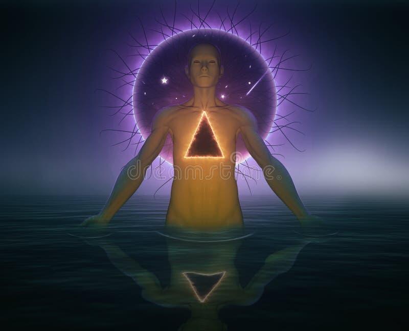 Psychodeliczny Szamański lub Duchowy podróży pojęcie zdjęcia stock